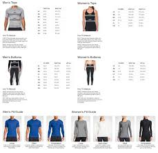 Under Armor Heat Gear Size Chart Coolmine Community School