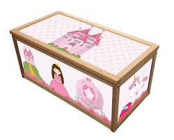 princess wooden toy box storage unit for girls children kids toys chest boxes 7105272287432