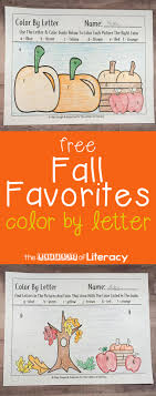 Summer activities family activities dinosaurs preschool. Free Fall Color By Letter Preschool Printable Activity