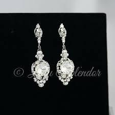 swarovski crystal chandelier earrings crystal wedding earrings vintage bridal earrings crystal chandelier earrings wedding jewelry crystal