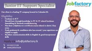 Pc Support Specialist Junior It Support Specialist 1 Jobs In Sri Lanka 0 Yrs