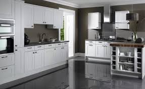 White Kitchen Floors White Shaker Kitchen Cabinets Grey Floor Design Awesome 1940