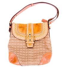 Coach Soho Signature Studded Camel Light Brown Canvas Leather Hobo Bag -  Tradesy
