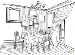dining room printable art. Click The Dining Room In Provence Style Coloring Pages To View Printable Version Or Color It Online (compatible With IPad And Android Tablets). Art