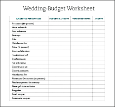Wedding Budget Template Schedule Related For South