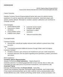 Customer Service Representative Resume Magnificent Customer Service Representative Resume 60 Free Sample Example