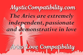 Aries Love Chart Aries Compatibility Mystic Compatibility