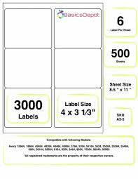 4 Labels Per Sheet Template Label Free Download Laser Avery