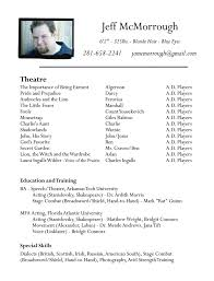 Acting Resume Template For Microsoft Word Best of Acting Resume Template For Microsoft Word Gallery One Acting Resume