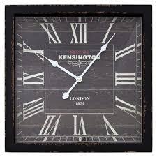 decor 16 in square mdf wall clock