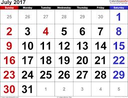 July 2017 Calendar Page | July 2017 Calendar | Pinterest ...