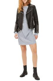 top naomi studded faux leather biker jacket black faux leather moto jackets