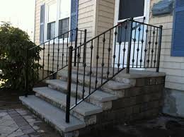 Wrought Iron Handrails Wrought Iron Handrails For Exterior Stairs Home Design Ideas