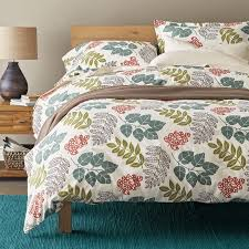 awesome bed of leaves flannel duvet cover sham goodglance within flannel duvet cover king