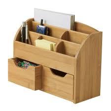lipper international bamboo 9 62 in x 12 62 in space saving desk organizer 809 the home depot