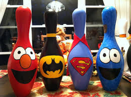 Decorated Bowling Pins Bowling pin friends Bowling Pinterest Craft Pin art and Crafty 2