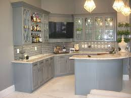 kitchen elegant grey cabinets images with stain inside light granite countertops prepare 18