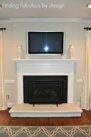 painted brick fireplace family room makeover finished