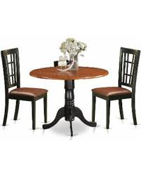 W 3piece Dublin Kitchen Table Set With Dining And 2 Solid Wood  Chairs