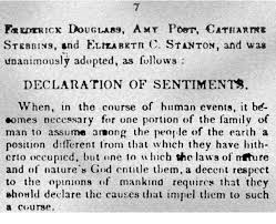 declaration of sentiments essay declaration of sentiments essay declaration of the congress held