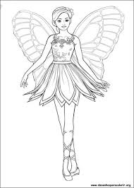 Coloriage De Barbie Mariposa Coloriages Barbie Coloriages