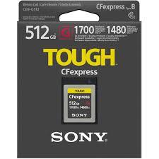 Thẻ nhớ CFexpress 3.0 Sony 512GB Type B TOUGH bảo hành 5 năm - Thẻ nhớ máy  ảnh