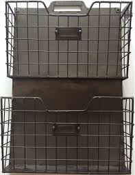 vintage style metal double wall pocket