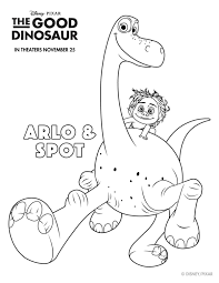 Small Picture Free Printable Disney The Good Dinosaur Arlo Spot Coloring Page