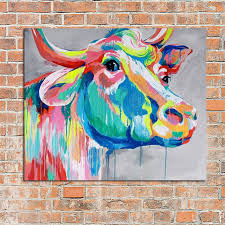 modern abstract art 100 handpainted oil painting cow paintings on canvas wall art pictures for