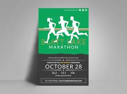 Poster Templet Blatt Lake Marathon Poster Template Mycreativeshop