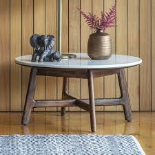 white marble top round coffee table