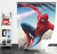 spider man homecoming vulture marvel comics shower curtain