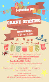 bar grand opening flyer pdf grand opening flyer copy the sanger scene