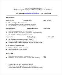Chronological Resume Interesting Free Chronological Resume Templates What Chronological Resume
