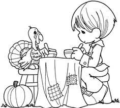 Small Picture Thanksgiving Coloring Pages Precious Moments Coloring Pages