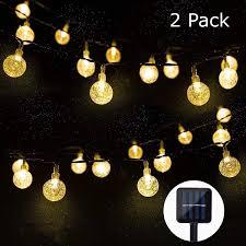 Amazon Solar Outdoor String Lights Amazon Com Aiddomm Outdoor Solar String Lights 30 Led