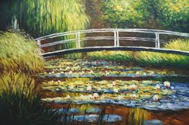 the water lily pond oil painting reion canvas by claude monet