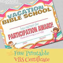 Vbs Certificate Template Free Vacation Bible School Certificates Templates