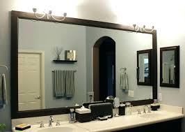wooden framed bathroom mirrors white