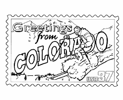 Small Picture USA Printables Colorado State Stamp US States Coloring Pages