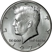 1971 50c Ms Kennedy Half Dollars Ngc