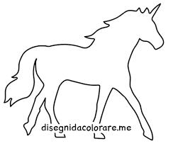 Unicorno Sagoma Da Stampare Disegni Da Colorare