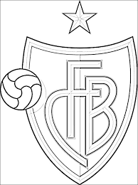 Fc Barcelona Logo Kleurplaat Fc Barcelona Kleurplaten Kleurplaten Eu