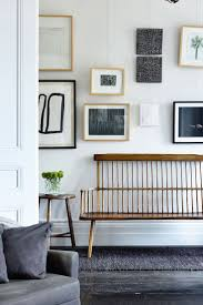 office wall decoration nifty 1000 ideas. Gallery Wall And Vintage Bench Office Decoration Nifty 1000 Ideas