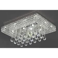 nerisa chrome crystal flush mount chandelier free today throughout flush mount chandeliers view