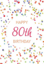 80th Birthday Cards Free Greetings Island