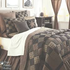 Bedroom Furniture:Black Country Primitive Patchwork Quilt Set For Twin  Queen Cal Inside Country Style