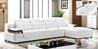cheers barcelona black and big white sching l shaped modern design sectional soft cow leather sofa