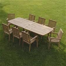 teak patio set. Bayview Patio 9 Piece Teak Furniture Set U