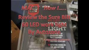 Surebilt Led Light 60 Led Sure Bilt Work Light Review Sold By Autozone By